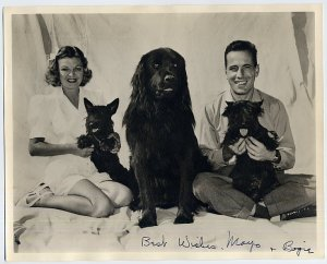 Mayo with husband Humphrey Bogart and friends