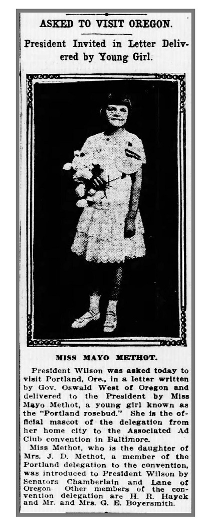 Mayo Methot, The Portland Rosebud