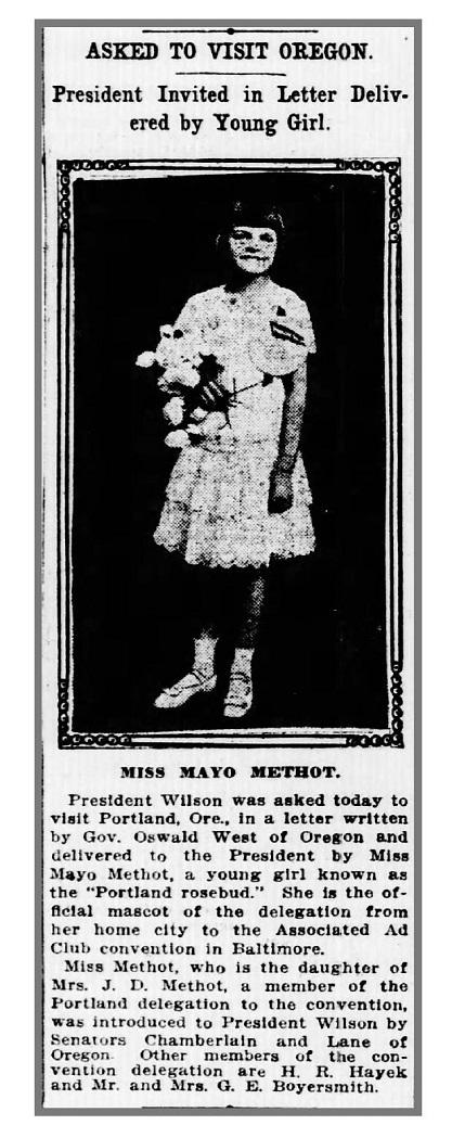 Mayo Methot, The Portland Rosebud
