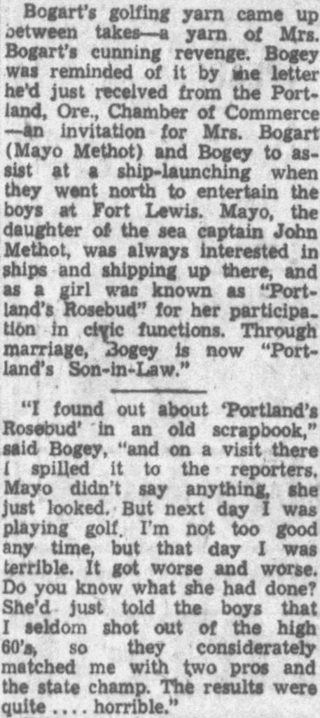 Humphrey Bogart, Mayo Methot, Hollywood, Portland Oregon, Oregon, Portland, Non-Fiction, Biography